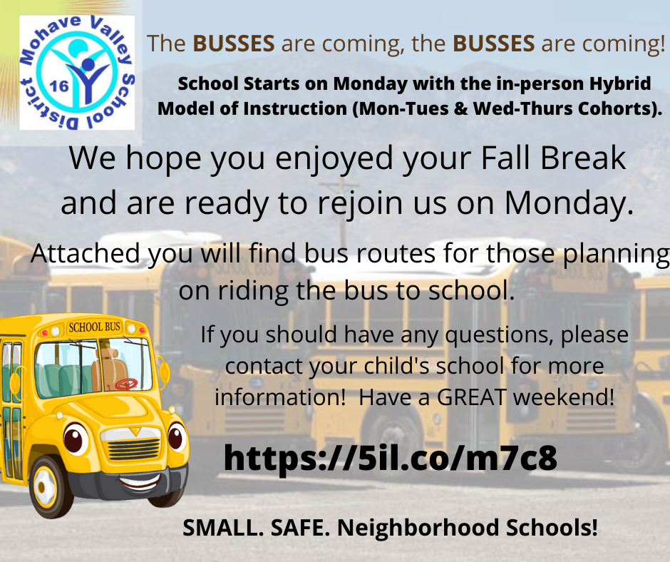 The Busses Are Coming!  Bus Routes Information!