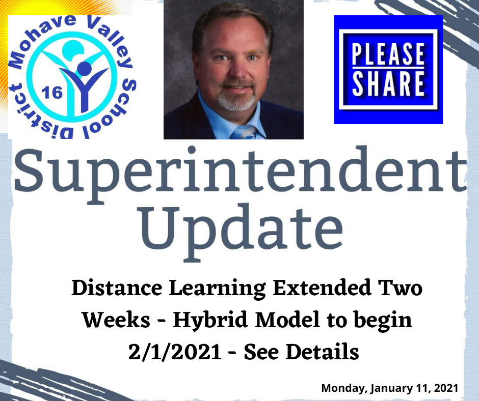 Distance Learning Extended Two Weeks!