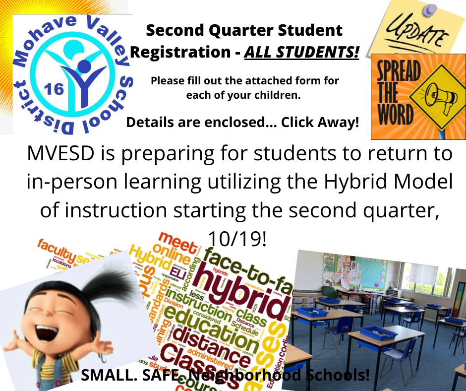 Registration for Second Quarter - All Students