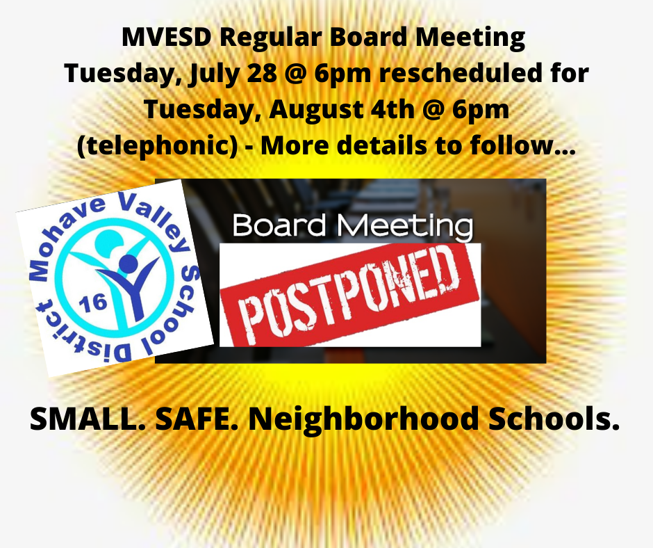 Board Meeting Postponed