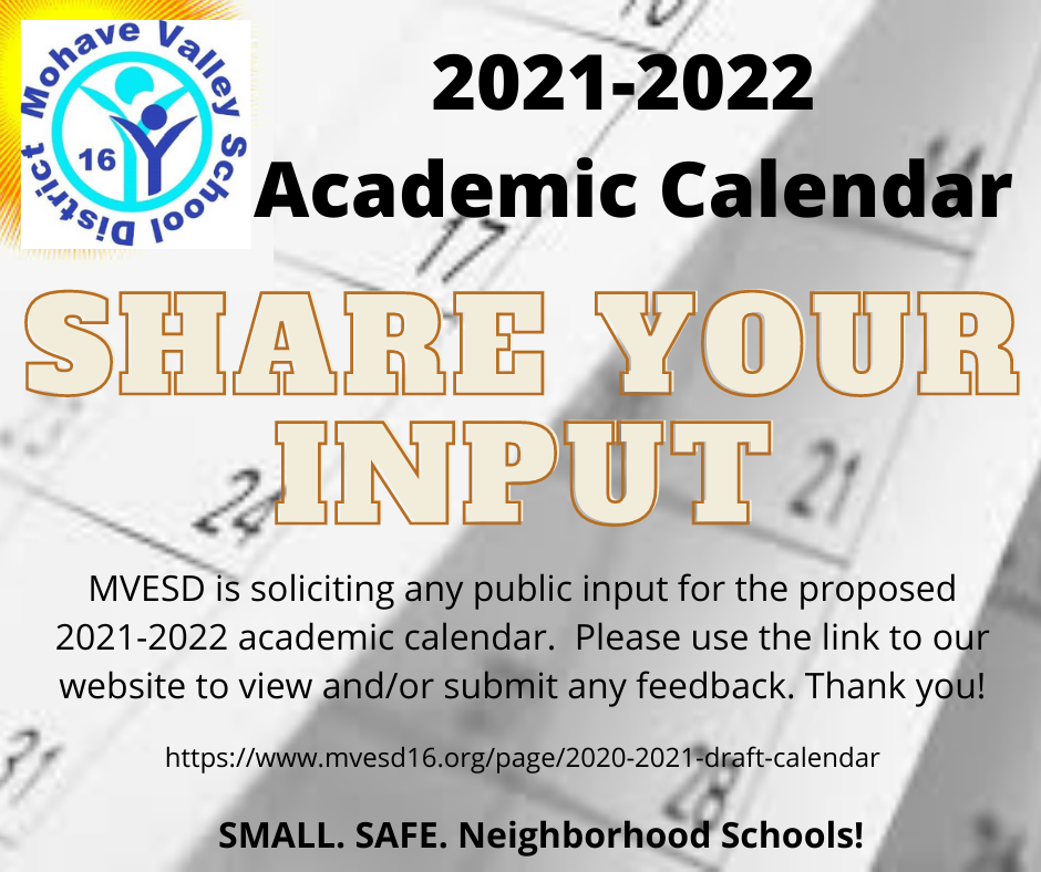 2021-2022 Academic Calendar - Share Your Input