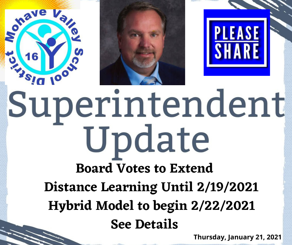 Board Votes to Extend Distance Learning Until 2/19/2021  - Pending Metrics