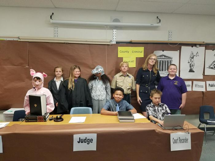 Mrs. Cook's Class Mock Trial Participants