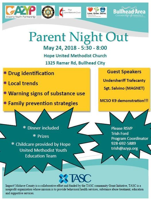 Parent Night Out Flyer