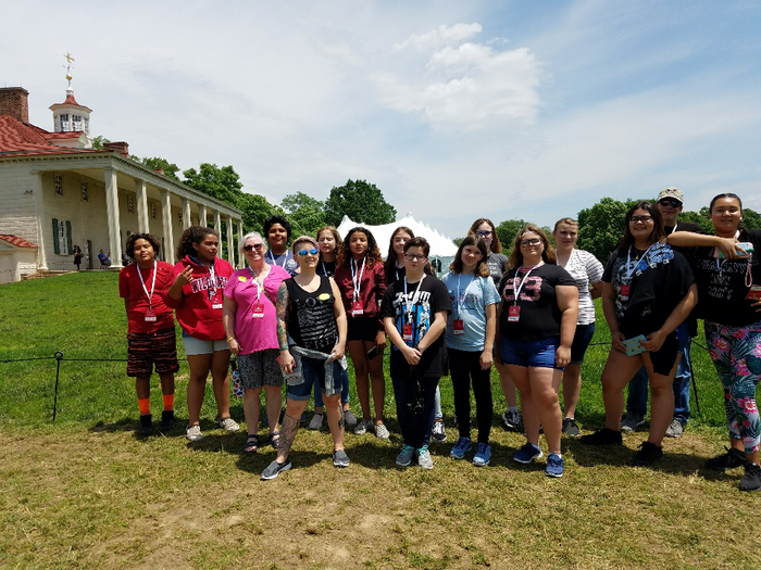 Another group photo at Mt. Vernon.