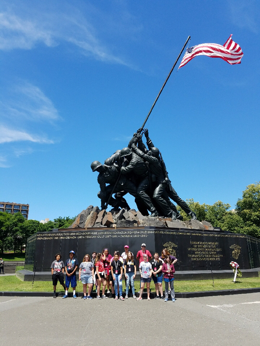 At the Marine Corps Memorial