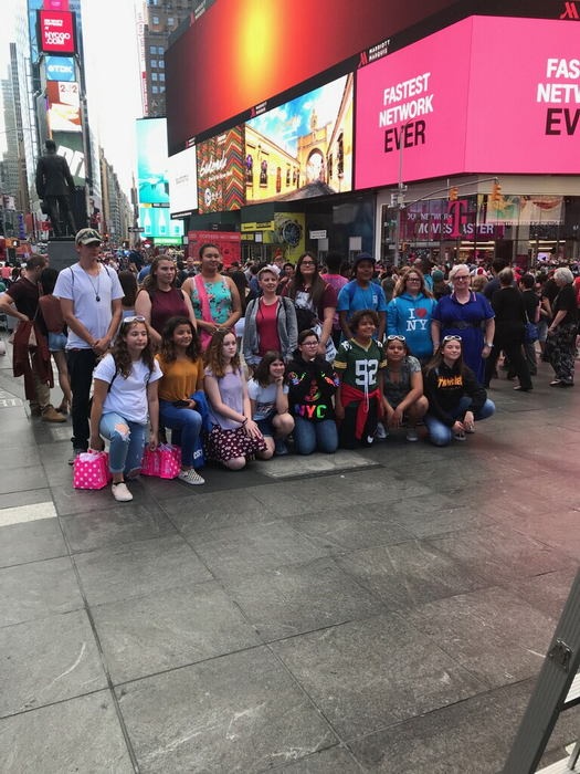 Bulldogs in Time Square.