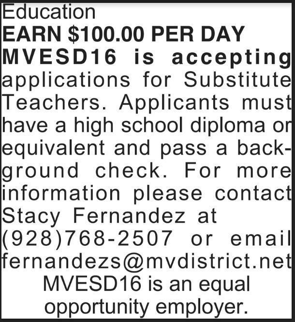 Help Wanted: Sub Teachers
