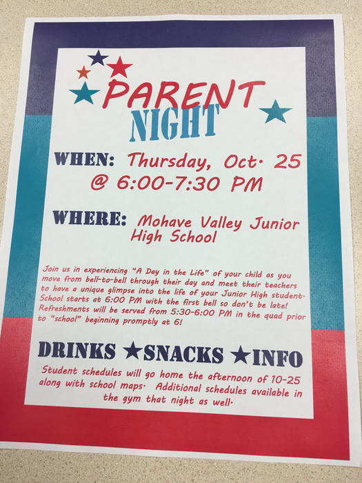 Parent Night at MVJHS