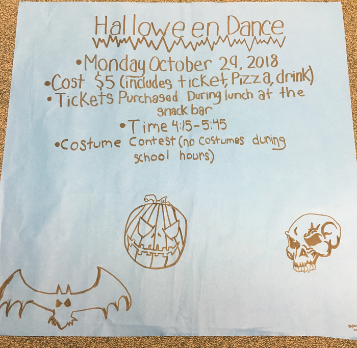 Upcoming Halloween Dance!