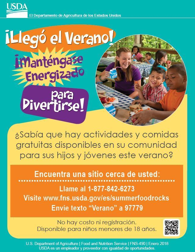 Summer Meals Flyer Spanish