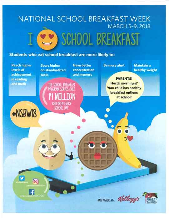 National School Breakfast Week March 5-9