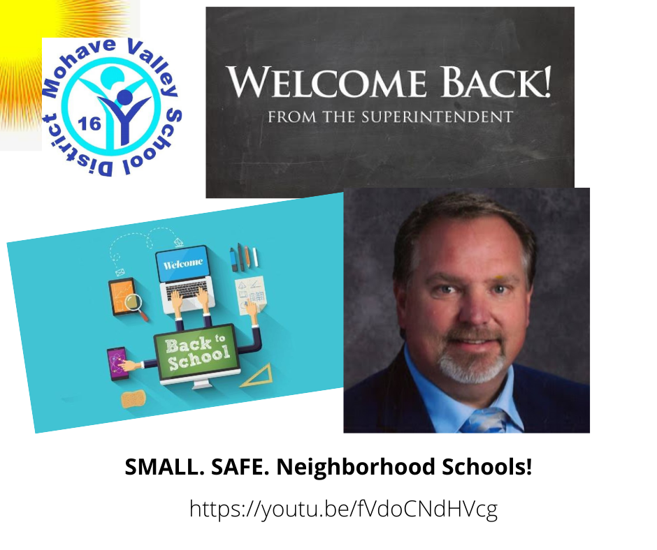 Welcome Back Message From the MVESD Superintendent